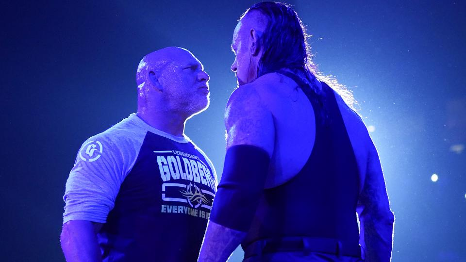 Goldberg, The Undertaker (source: WWE)