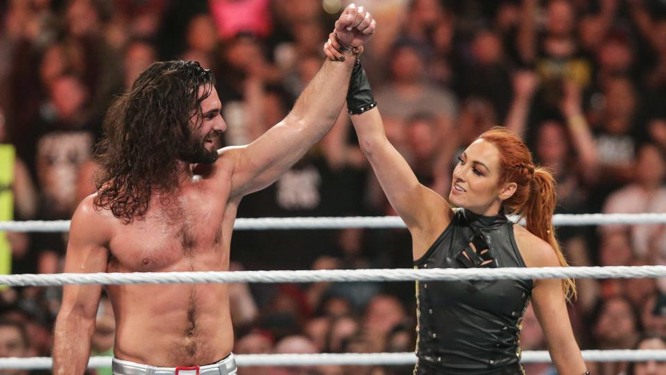 Seth Rollins, Becky Lynch (source: WWE)