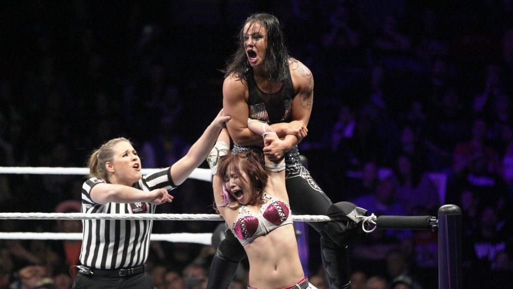 Kairi Sane, Shayna Baszler (source: WWE)