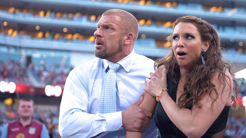 Triple H, Stephanie McMahon (source: WWE)
