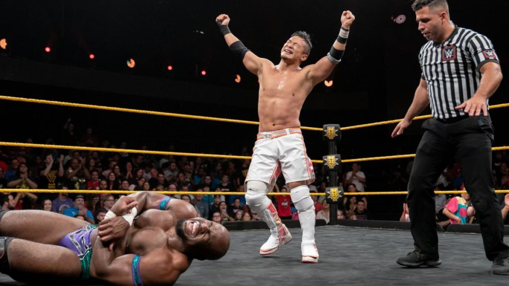 Apollo Crews, Kushida (source: WWE)