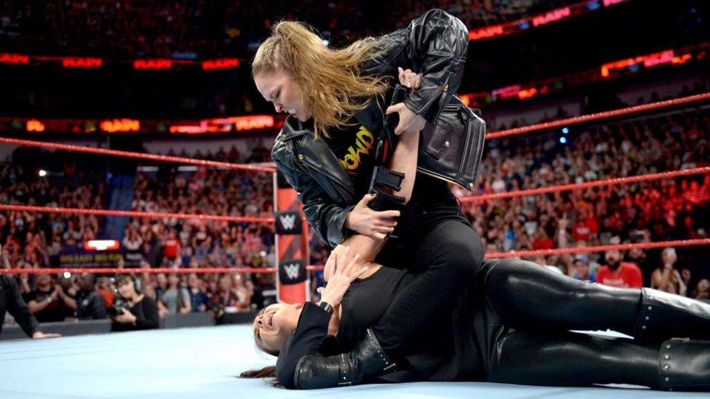 Stephanie McMahon, Ronda Rousey (source: WWE)