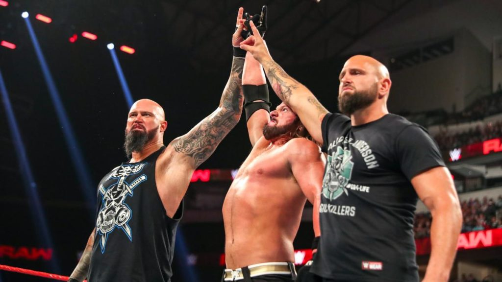 Luke Gallows, AJ Styles, Karl Anderson (source: WWE)