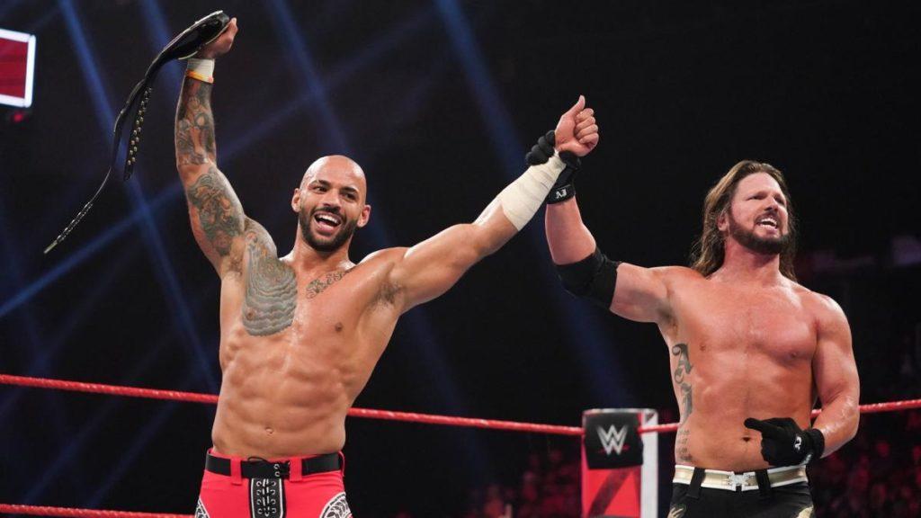 Ricochet, AJ Styles (source: WWE)