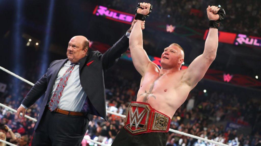 Paul Heyman, Brock Lesnar (source: WWE)