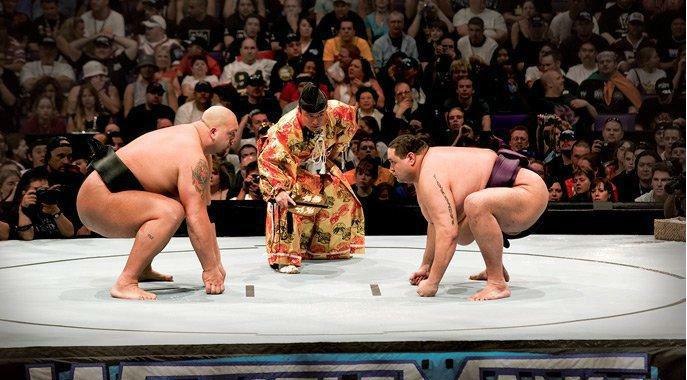 Big Show, Akebono (source: WWE)