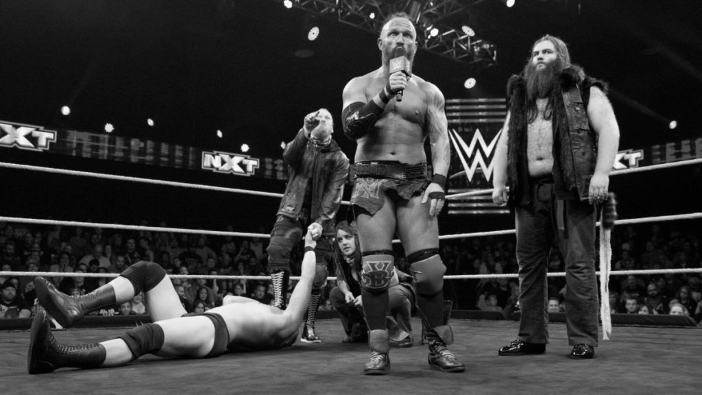 Alexander Wolfe, Nikki Cross, Eric Young, Killian Dain (source: WWE)
