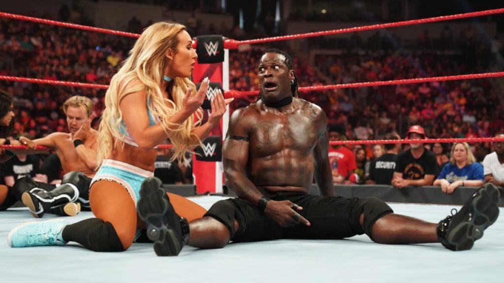 Drake Maverick, Carmella, R-Truth (source: WWE)