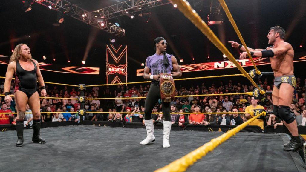 Pete Dunne, Velveteen Dream, Roderick Strong (source: WWE)