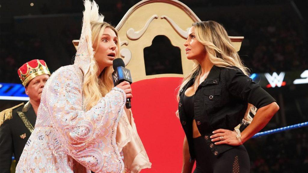 Jerry Lawler, Charlotte Flair, Trish Stratus (source: WWE)