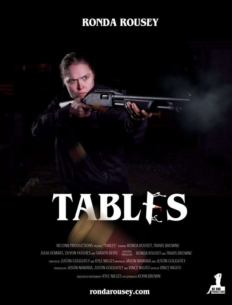 Ronda Rousey's TABLES character poster