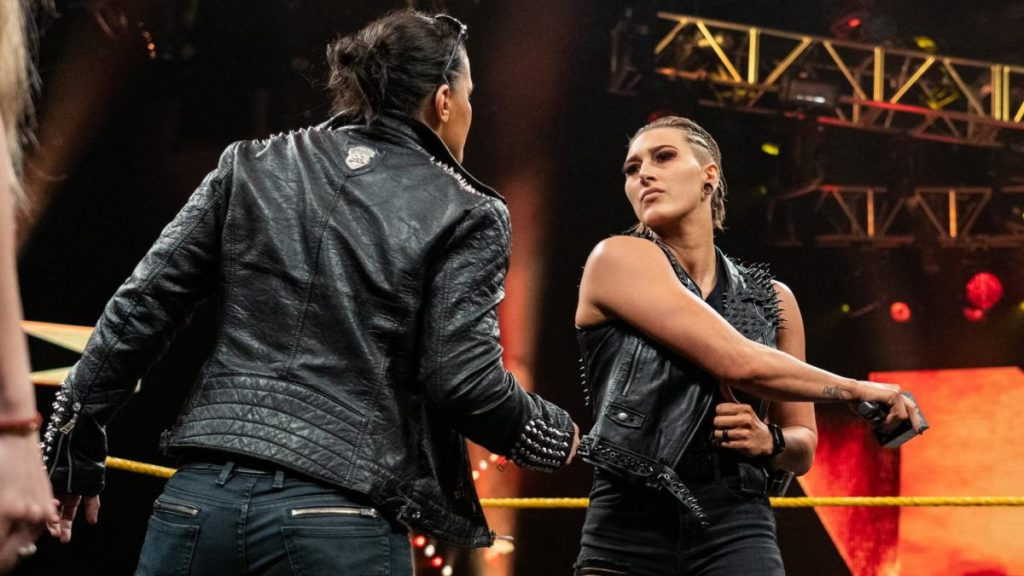 Shayna Baszler, Rhea Ripley (source: WWE)