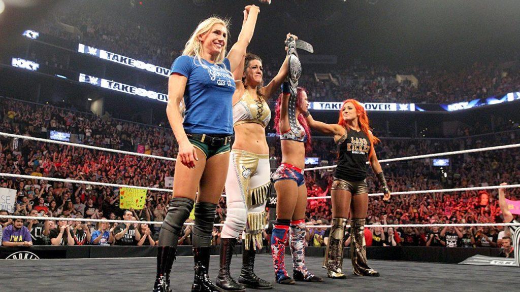 Charlotte Flair, Bayley, Sasha Banks, Becky Lynch (source: WWE.com)