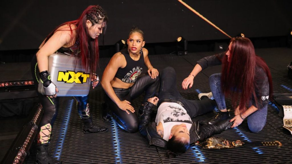 Io Shirai, Bianca Belair, Shayna Baszler, Kay Lee Ray (source: WWE.com)