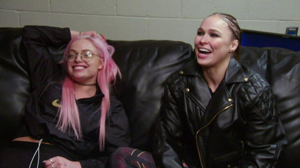Liv Morgan, Ronda Rousey (source: 'Total Divas')