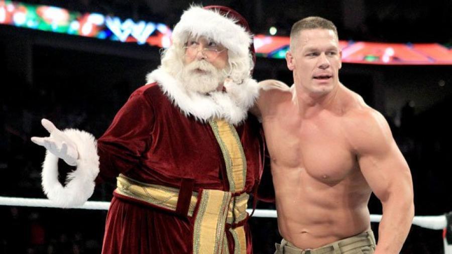 Santa Claus, John Cena (source: WWE)