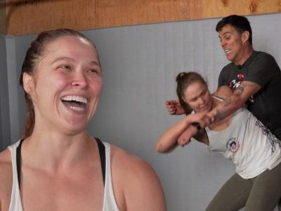 Ronda laughing