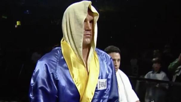 Bart Gunn enters for his WrestleMania XV Brawl for All match against Butterbean. (source: WWE)