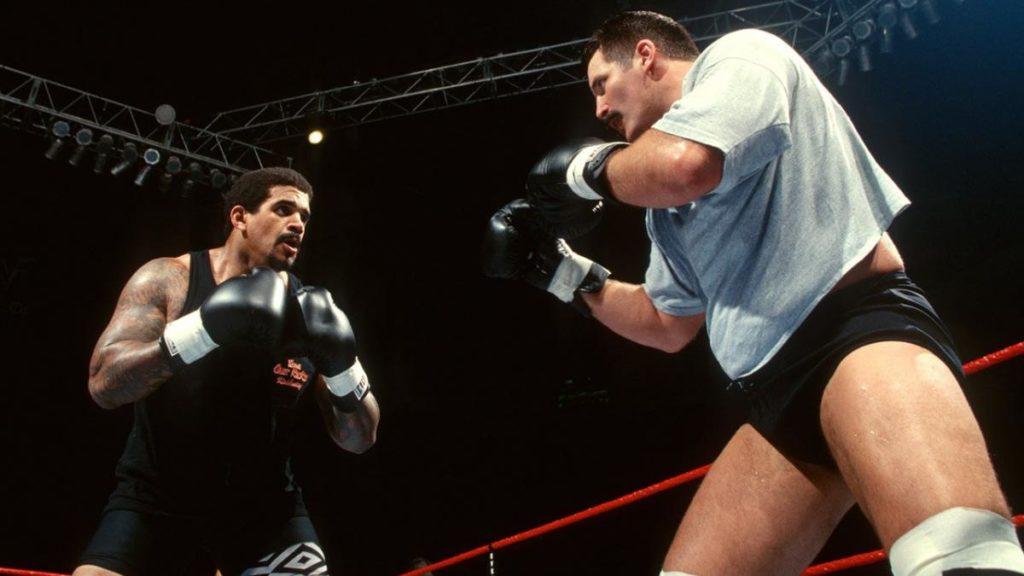 The Godfather vs. Dan Severn, Brawl for All (source: WWE)