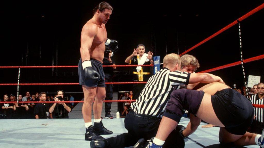 Bart Gunn vs. Bradshaw, Brawl for All (source: WWE)