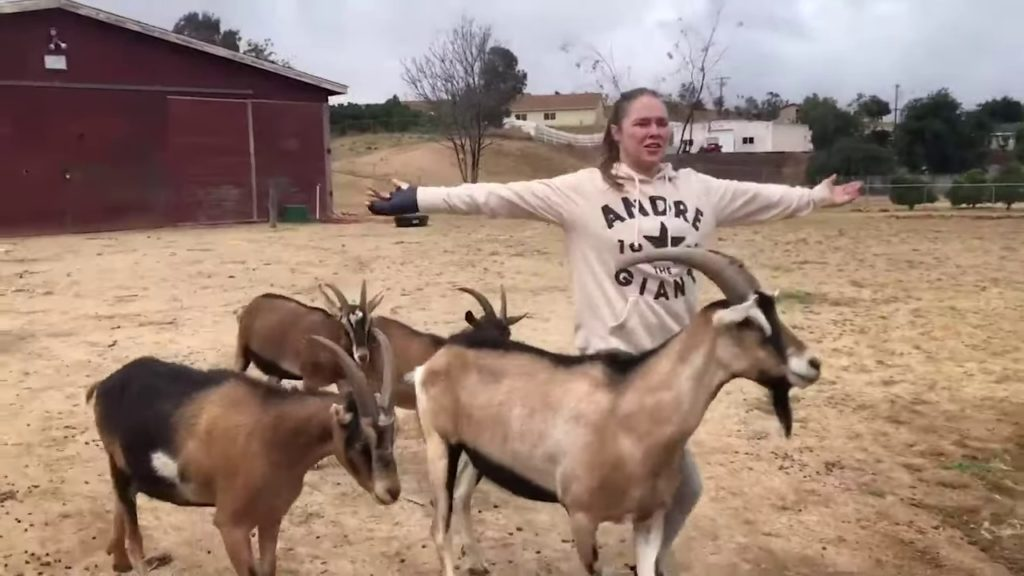 Ronda Rousey, mother of goats