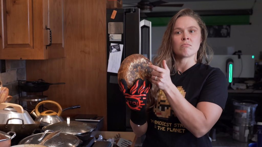 Ronda Rousey and some super simple sourdough