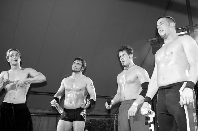 Generation Next (Jack Evans, Austin Aries, Alex Shelley, Roderick Strong) (source: ROH Wrestling)